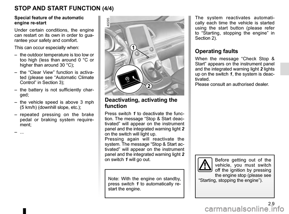 RENAULT ESPACE 2016 5.G Owners Manual, Page 117