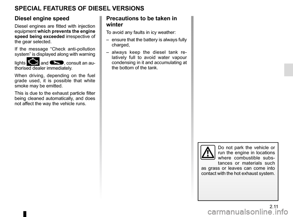 RENAULT ESPACE 2016 5.G Owners Manual, Page 119