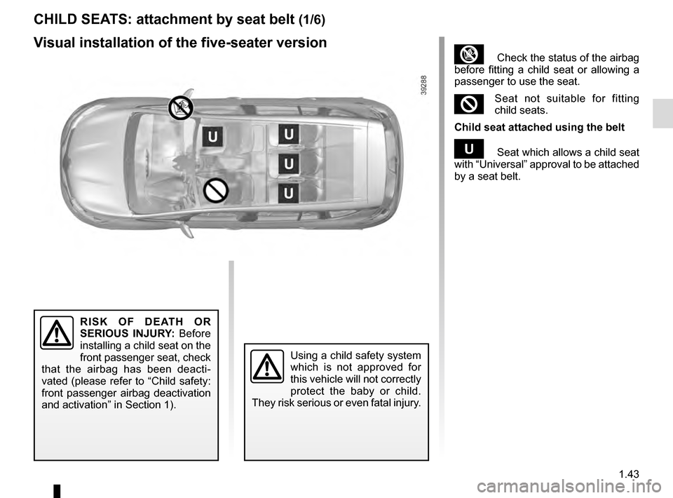 RENAULT ESPACE 2016 5.G Owners Manual, Page 49