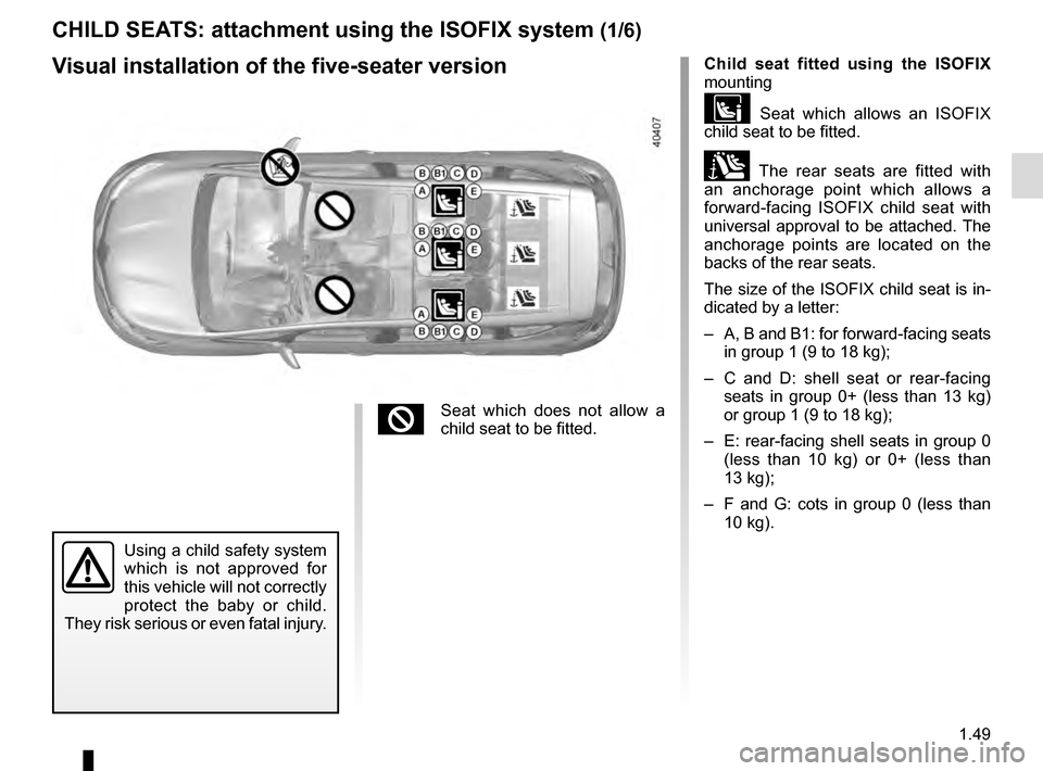 RENAULT ESPACE 2016 5.G Owners Manual, Page 55