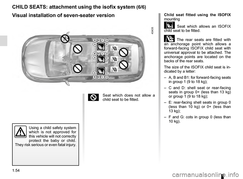 RENAULT ESPACE 2016 5.G Owners Manual, Page 60