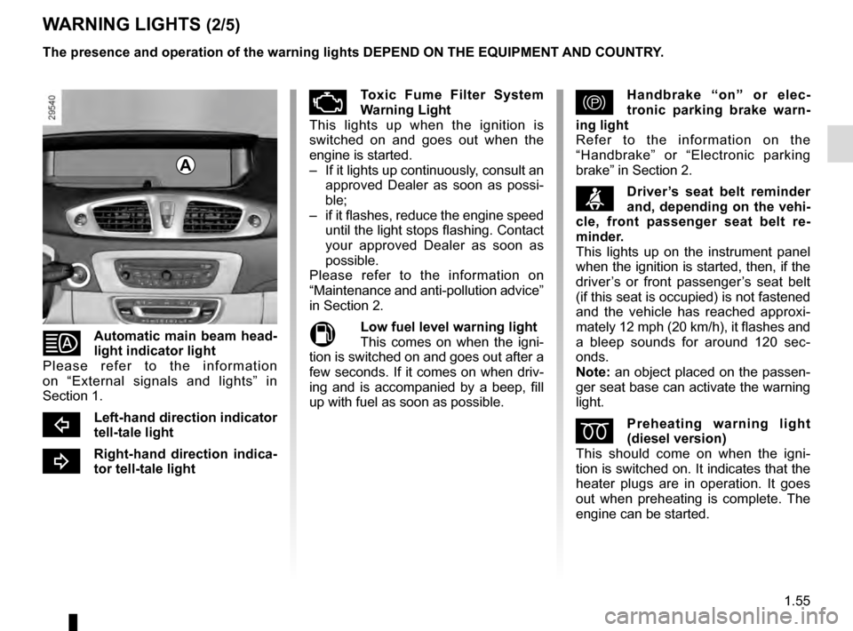 RENAULT GRAND SCENIC 2016 J95 / 3.G Owners Manual, Page 61