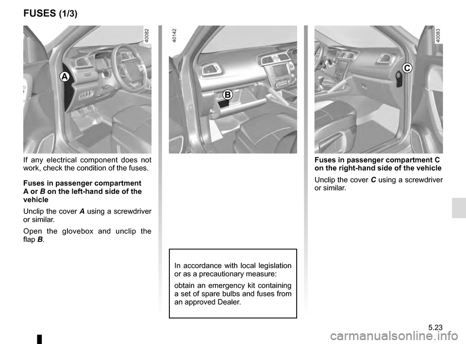 RENAULT KADJAR 2016 1.G Owners Manual, Page 257