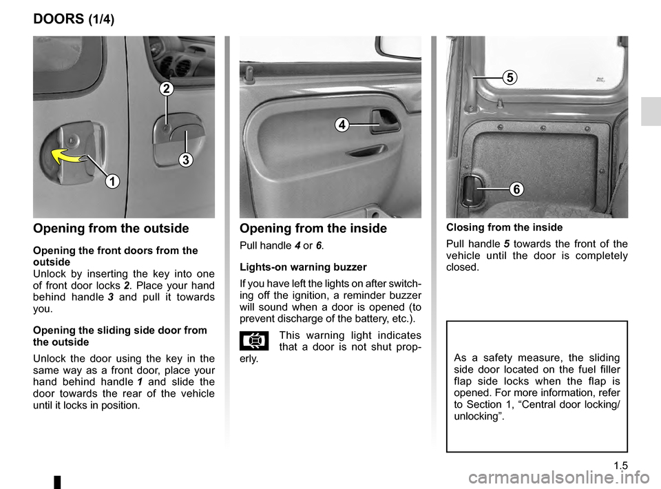 RENAULT KANGOO 2016 X61 / 2.G Owners Manual, Page 11