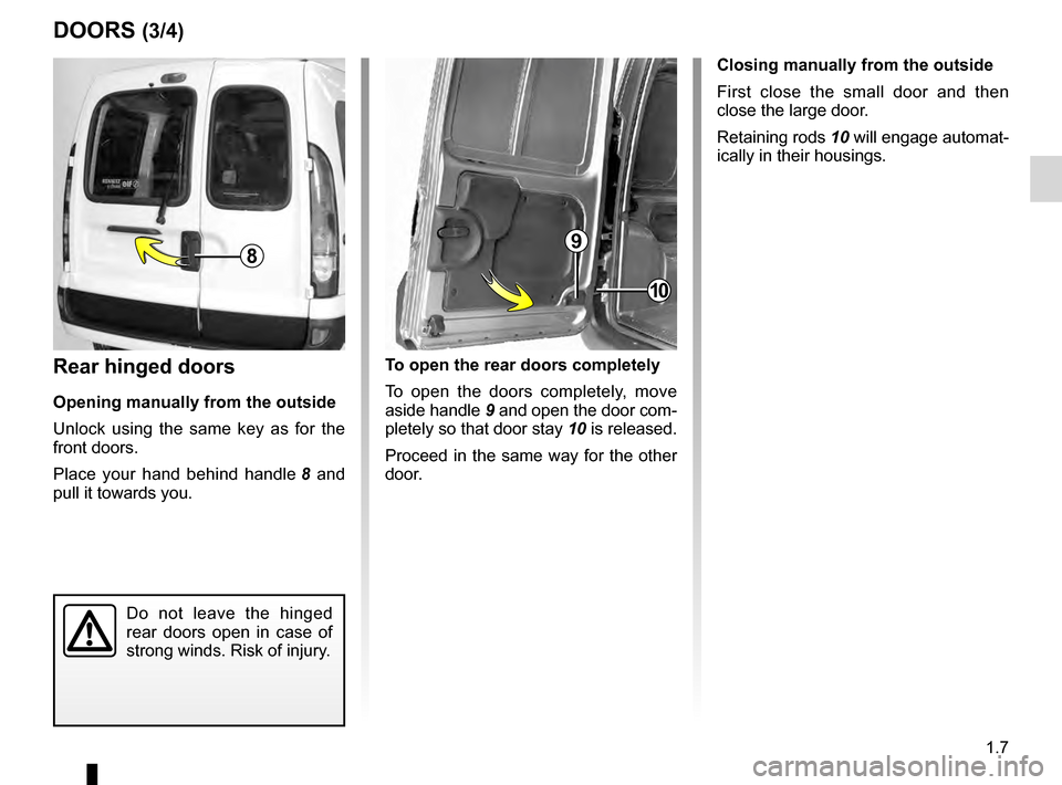 RENAULT KANGOO 2016 X61 / 2.G Owners Manual, Page 13