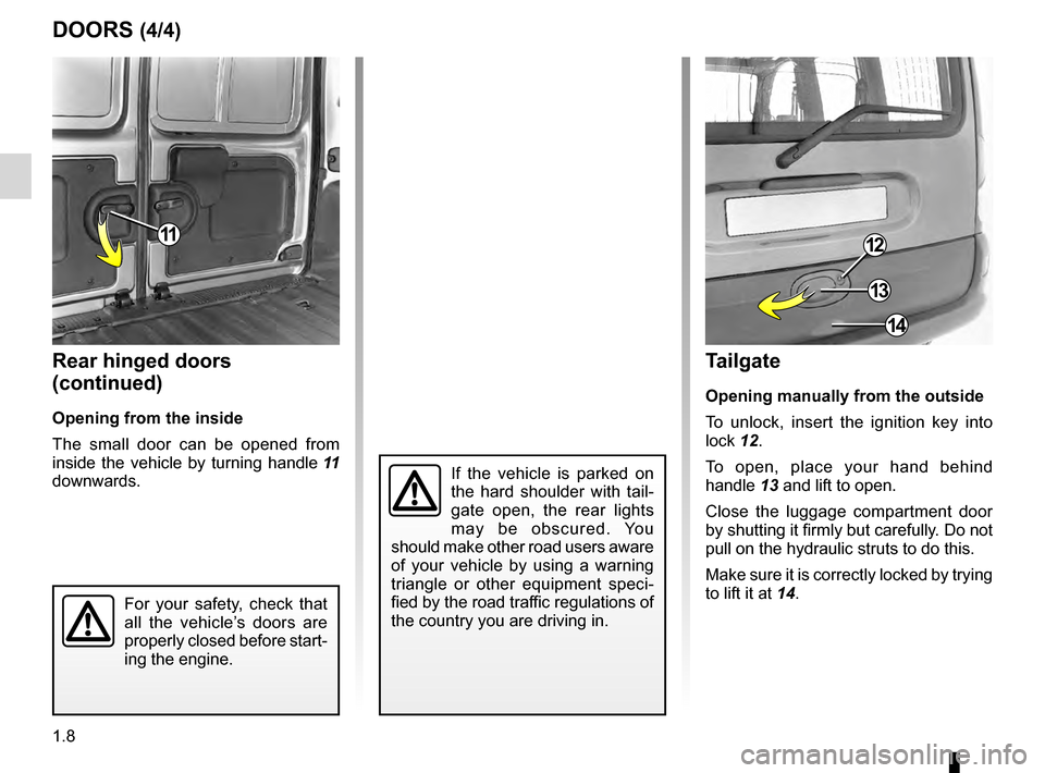 RENAULT KANGOO 2016 X61 / 2.G Owners Manual, Page 14