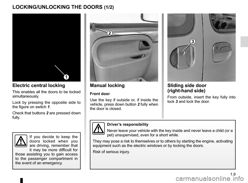 RENAULT KANGOO 2016 X61 / 2.G Owners Manual, Page 15
