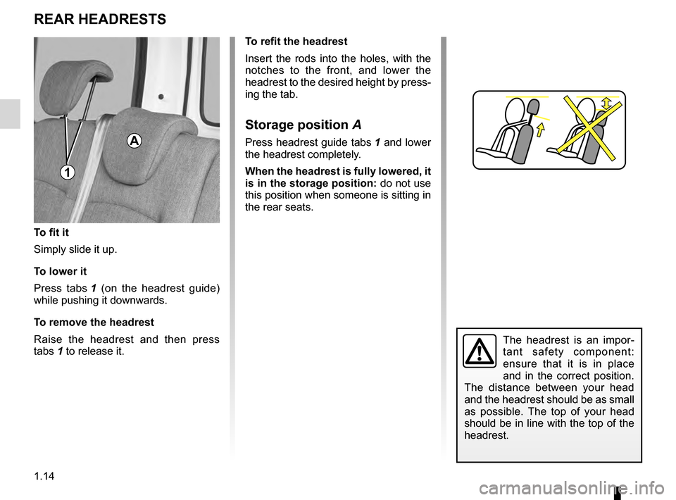RENAULT KANGOO 2016 X61 / 2.G Owners Manual, Page 20