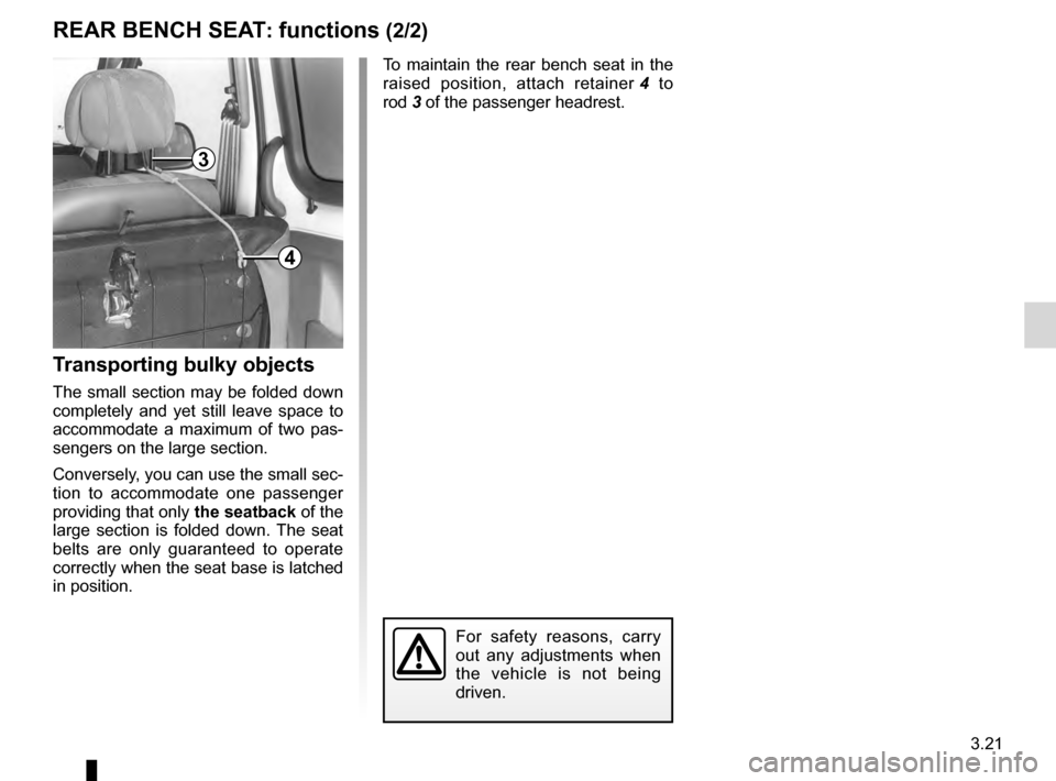 RENAULT KANGOO 2016 X61 / 2.G Owners Manual, Page 95