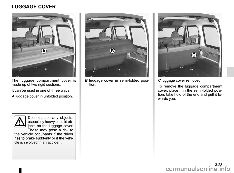 RENAULT KANGOO 2016 X61 / 2.G Owners Manual, Page 97