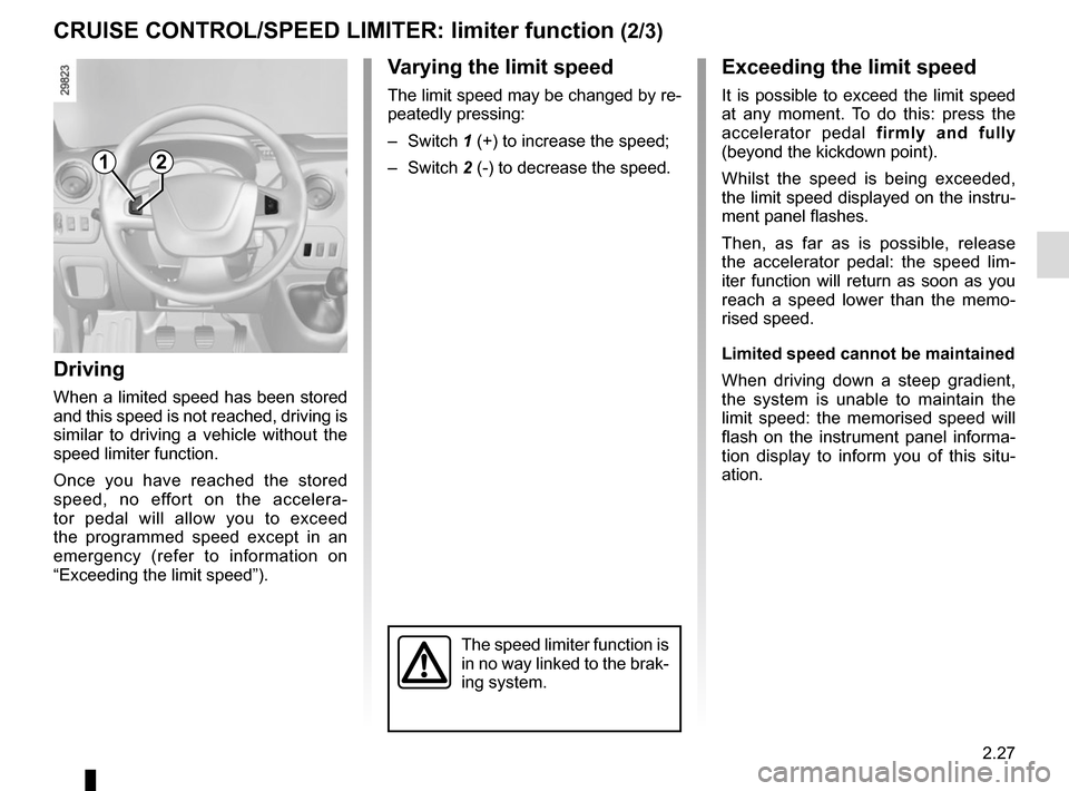 RENAULT MASTER 2016 X62 / 2.G Owners Manual, Page 141