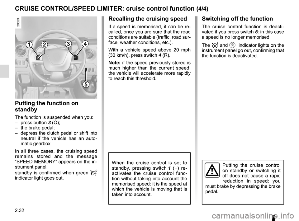 RENAULT MASTER 2016 X62 / 2.G Owners Manual, Page 146