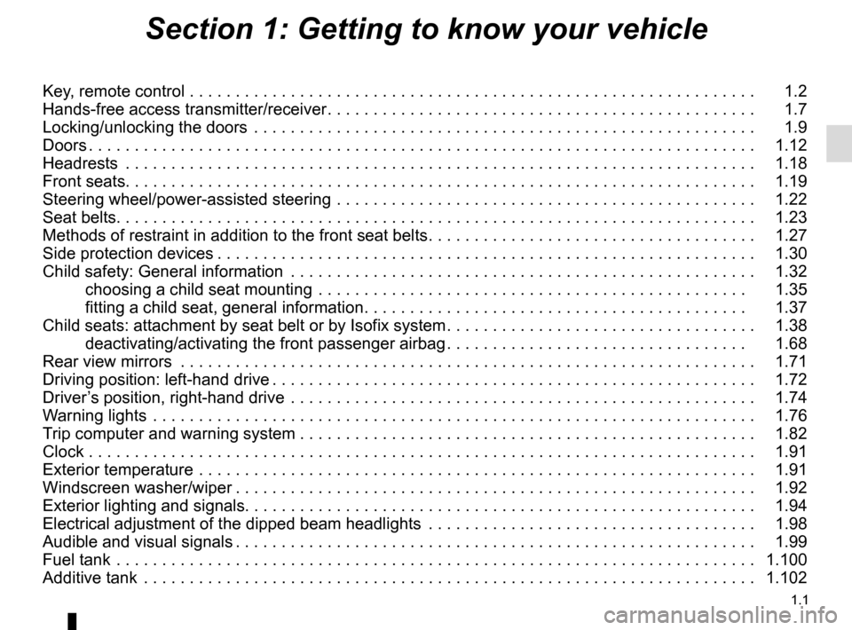 RENAULT MASTER 2016 X62 / 2.G Owners Manual, Page 7