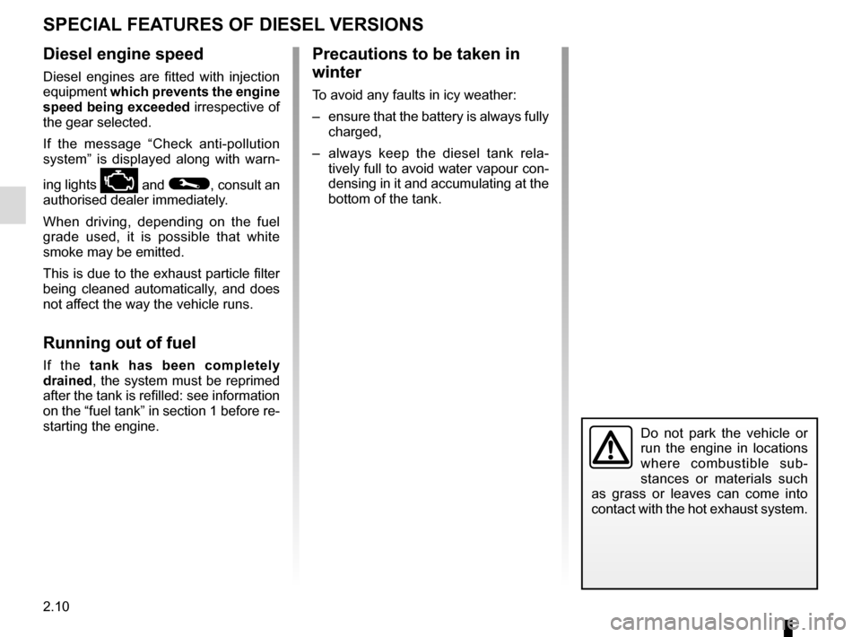 RENAULT MEGANE COUPE 2016 X95 / 3.G Owners Manual, Page 108