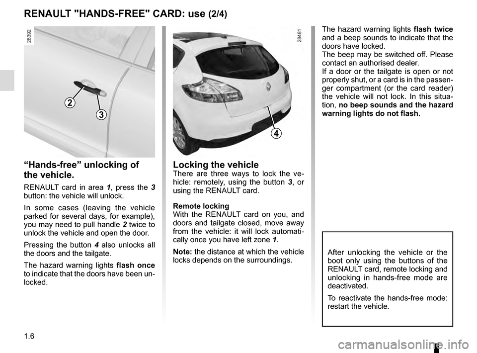 RENAULT MEGANE COUPE 2016 X95 / 3.G Owners Manual, Page 12