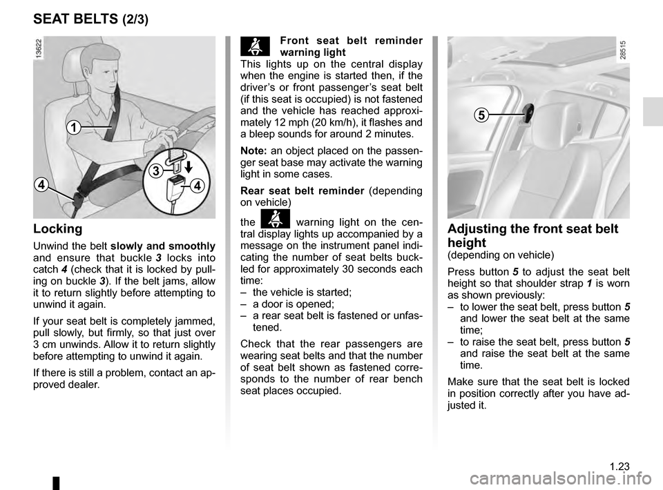 RENAULT MEGANE COUPE 2016 X95 / 3.G Owners Manual, Page 29