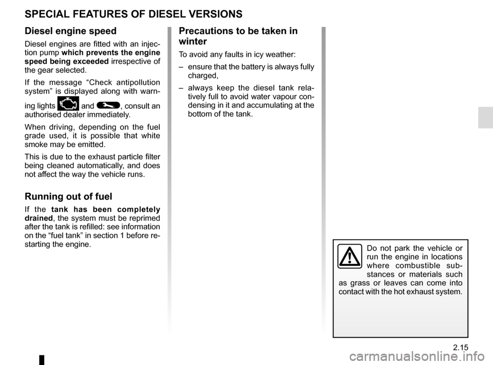 RENAULT MEGANE 2016 X95 / 3.G Owners Manual, Page 123