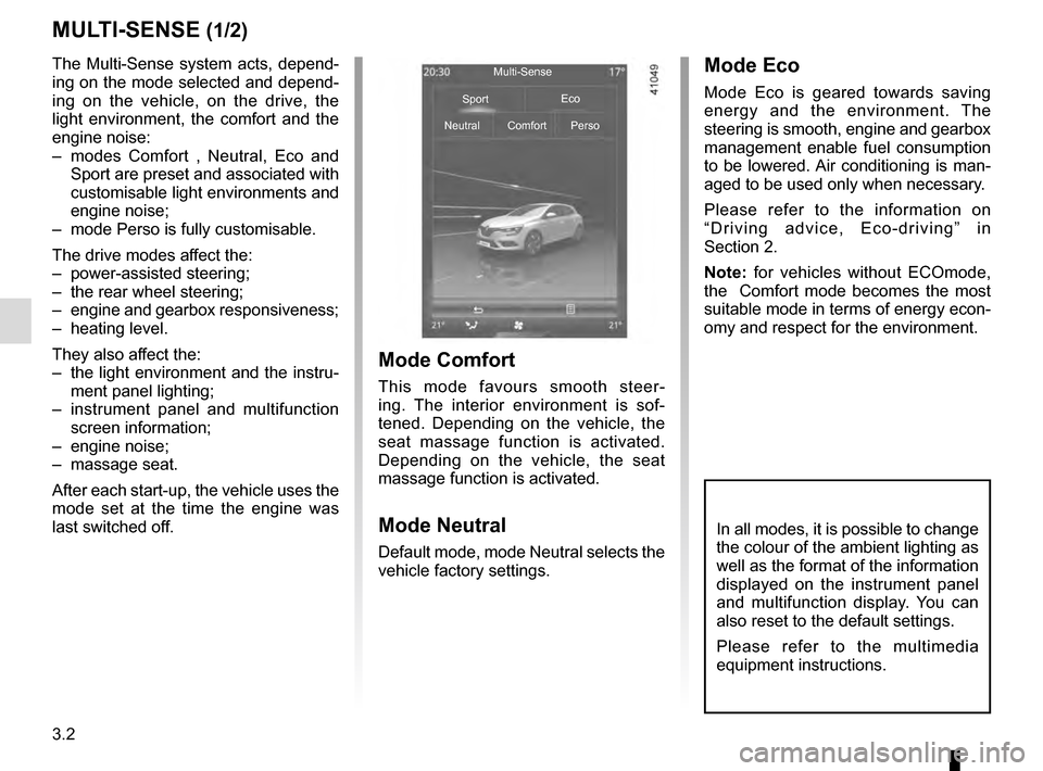 RENAULT MEGANE 2016 X95 / 3.G Owners Manual, Page 190