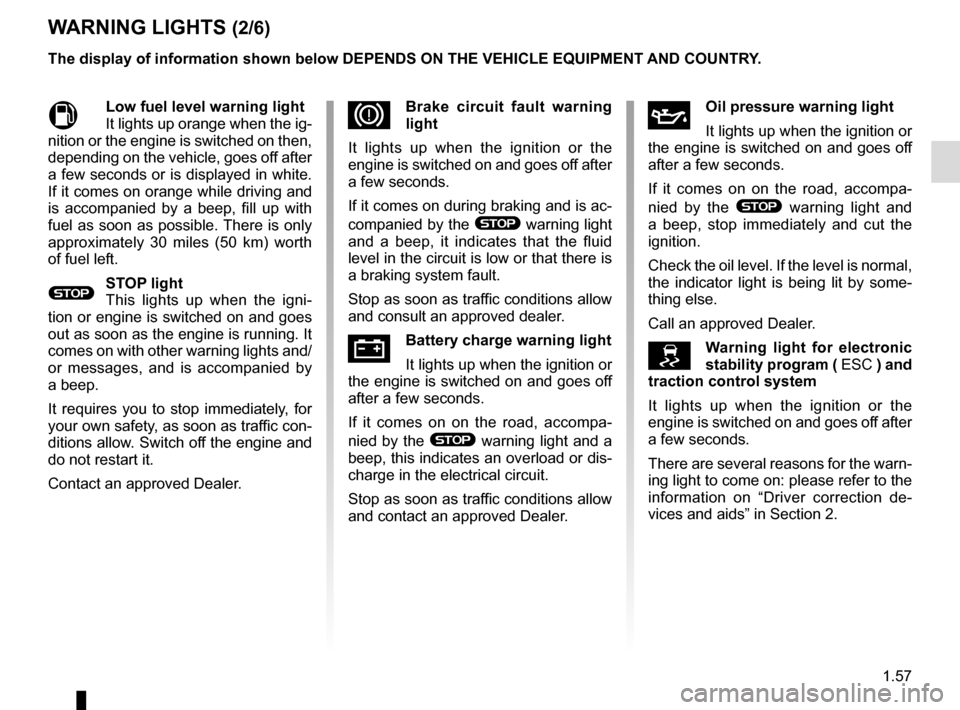 RENAULT MEGANE 2016 X95 / 3.G Owners Manual, Page 63