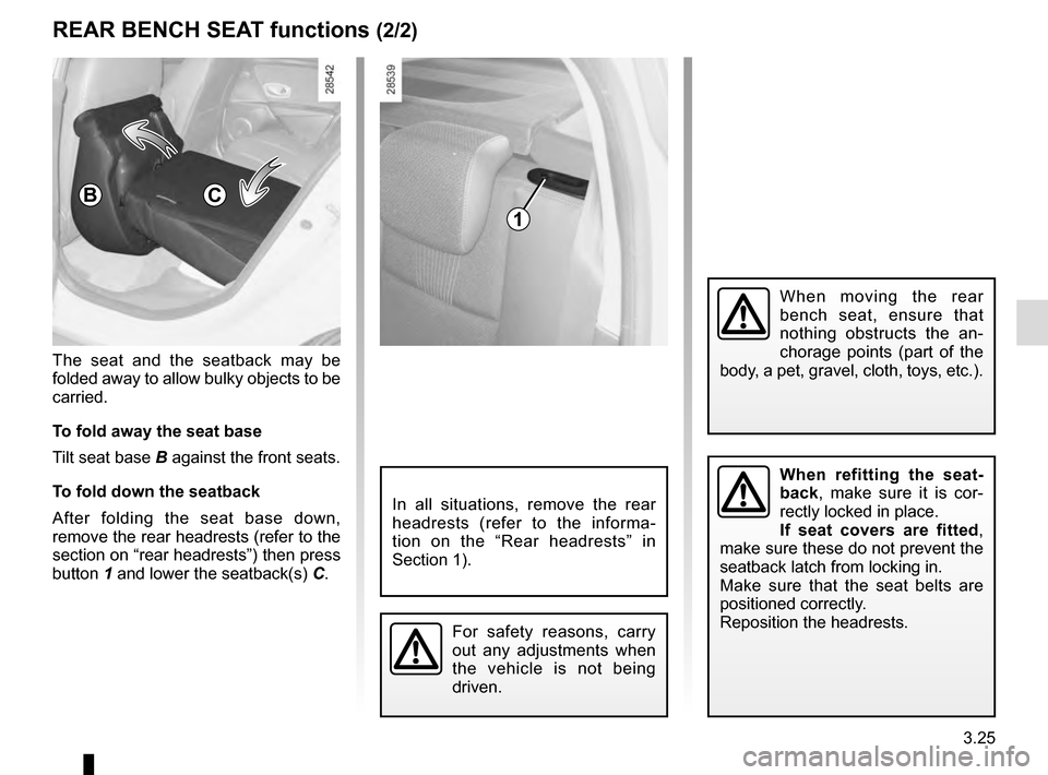 RENAULT MEGANE ESTATE 2016 X95 / 3.G Owners Manual, Page 169