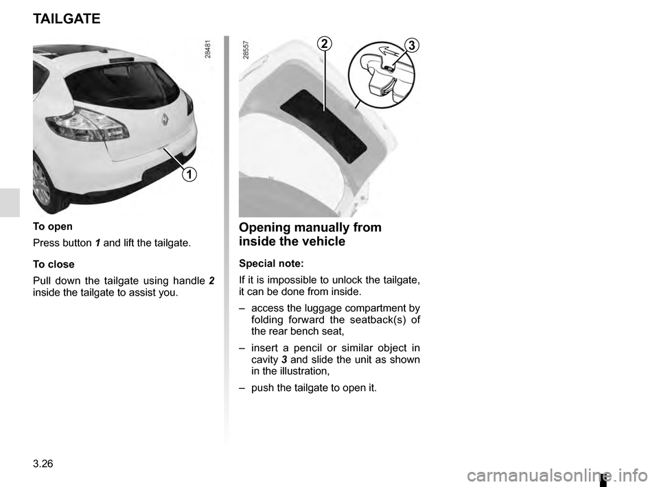 RENAULT MEGANE ESTATE 2016 X95 / 3.G Owners Manual, Page 170