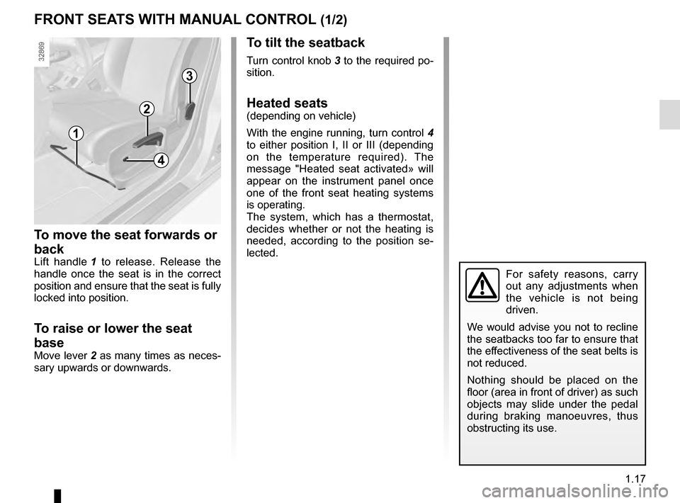 RENAULT MEGANE ESTATE 2016 X95 / 3.G Owners Manual, Page 23