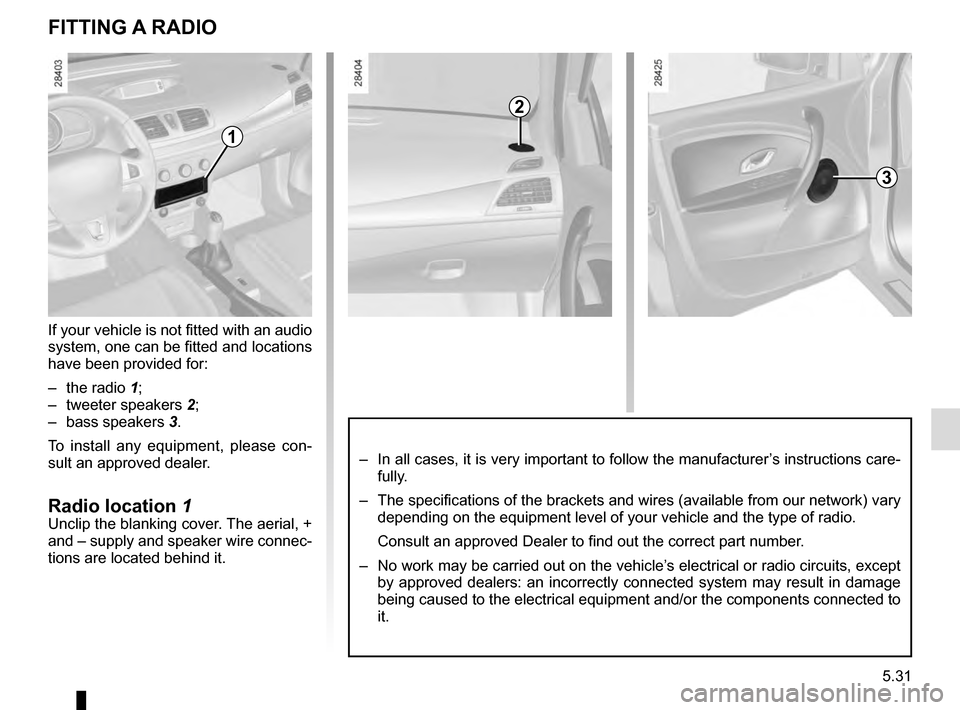 RENAULT MEGANE ESTATE 2016 X95 / 3.G Owners Manual, Page 233