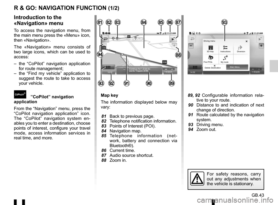 RENAULT TWINGO 2016 3.G Radio Connect R And Go User Manual, Page 101