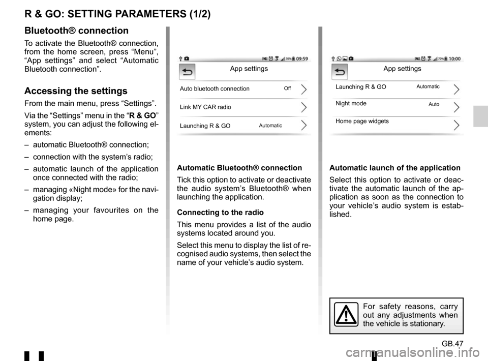 RENAULT TWINGO 2016 3.G Radio Connect R And Go User Manual, Page 105