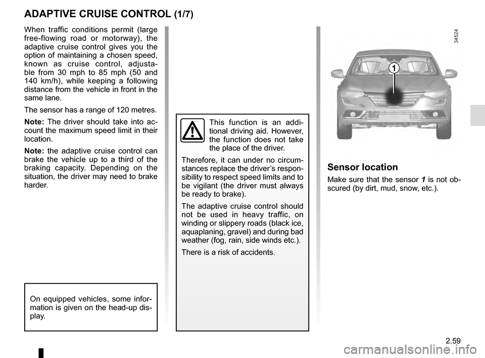 RENAULT TALISMAN 2016 1.G Owners Manual, Page 167