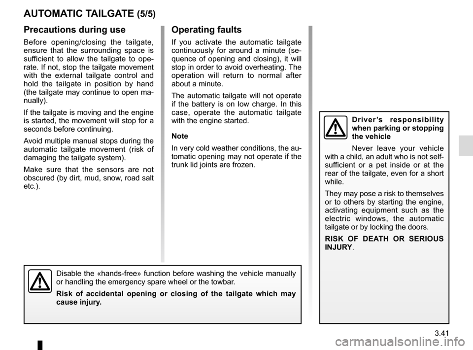 RENAULT TALISMAN 2016 1.G Owners Manual, Page 231
