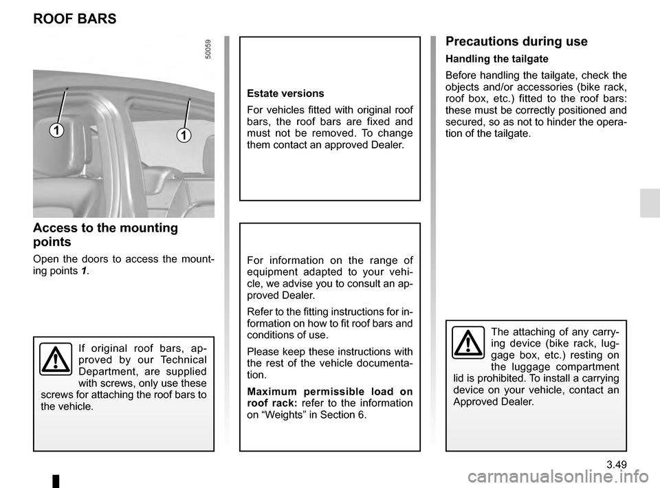 RENAULT TALISMAN 2016 1.G Owners Manual, Page 239