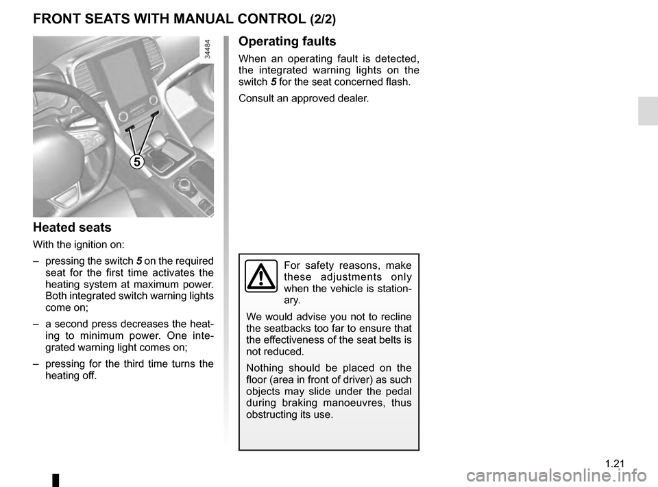 RENAULT TALISMAN 2016 1.G Owners Manual, Page 27
