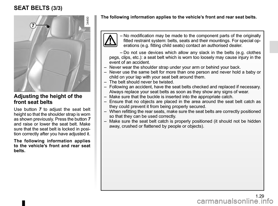 RENAULT TALISMAN 2016 1.G Owners Manual, Page 35