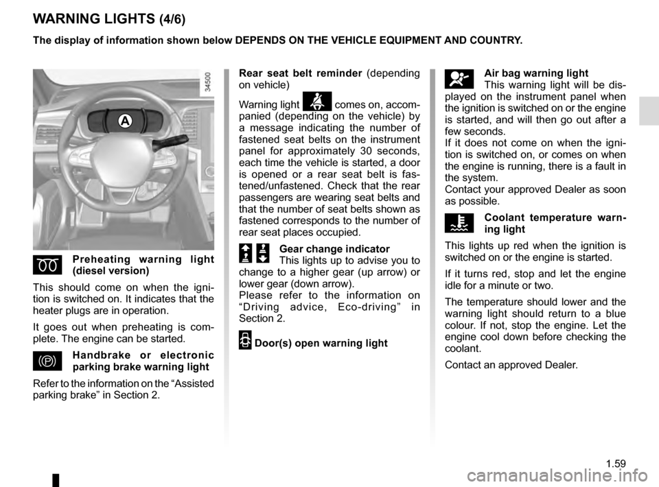 RENAULT TALISMAN 2016 1.G Owners Manual, Page 65