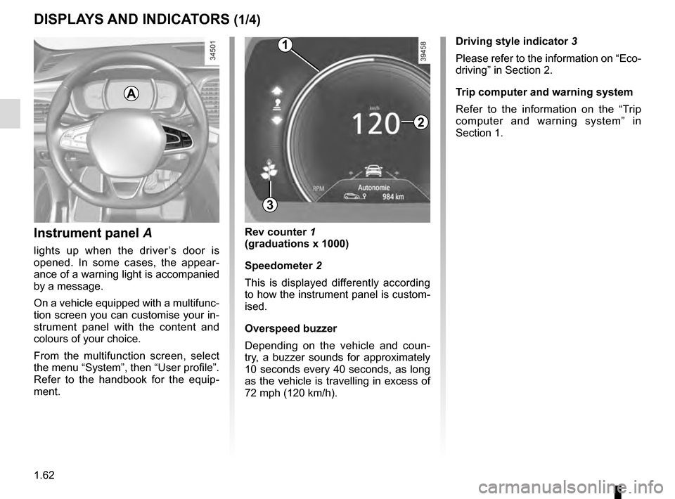 RENAULT TALISMAN 2016 1.G Owners Manual, Page 68