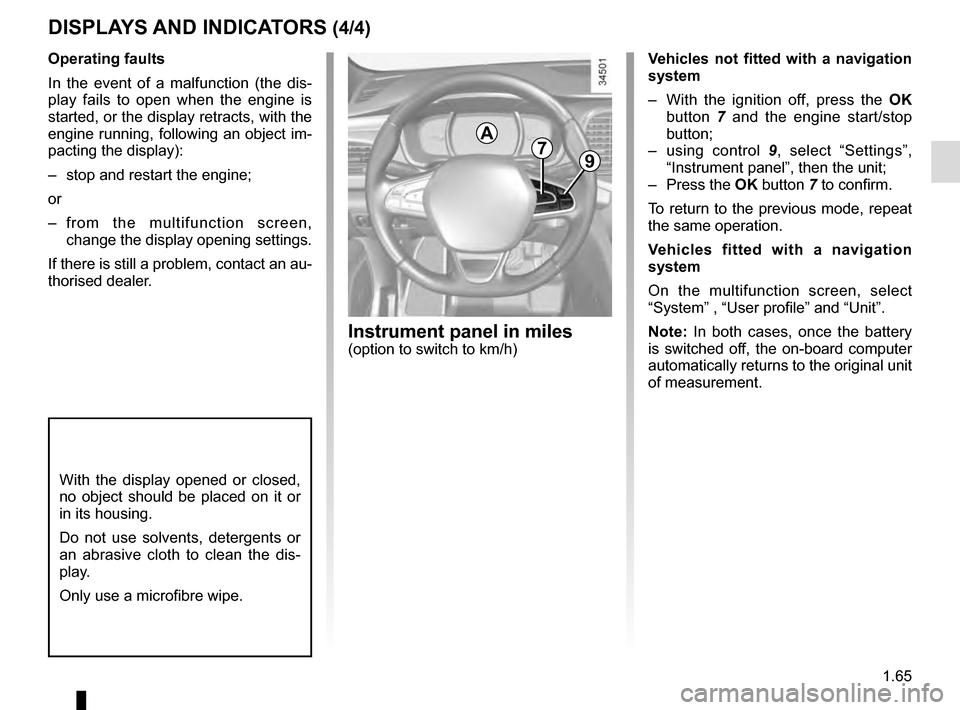 RENAULT TALISMAN 2016 1.G Owners Manual, Page 71