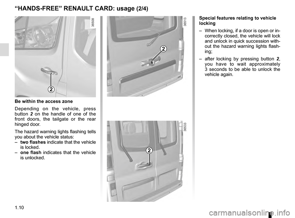 RENAULT TRAFIC 2016 X82 / 3.G Owners Manual, Page 16