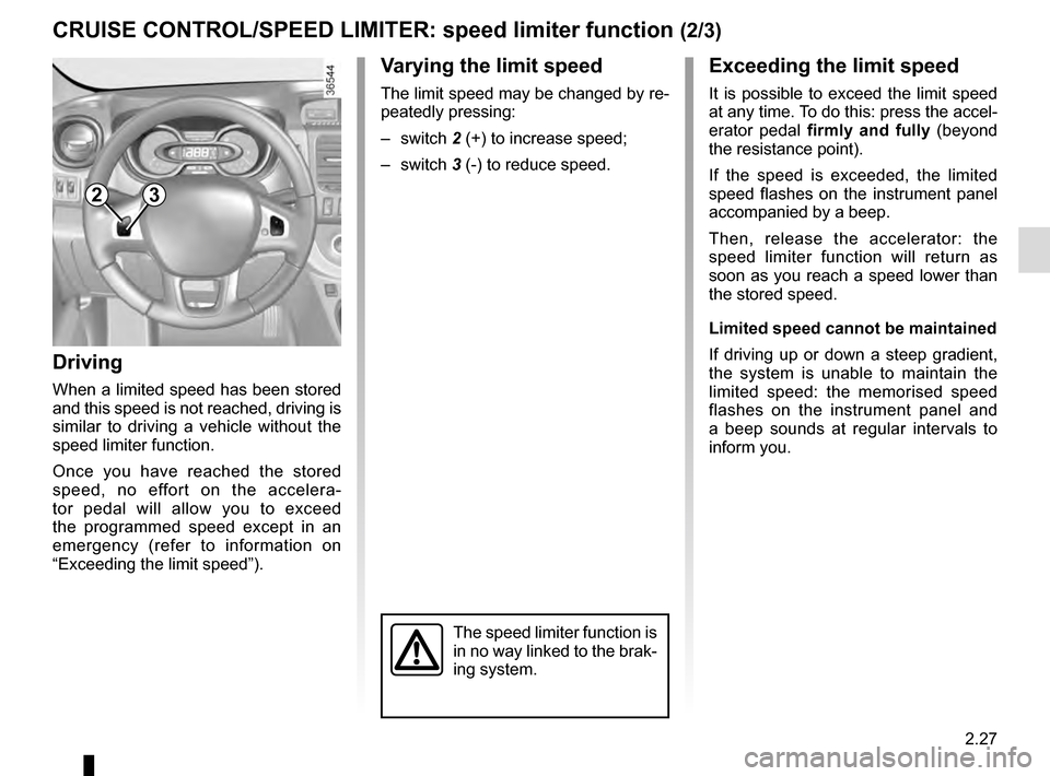 RENAULT TRAFIC 2016 X82 / 3.G Owners Manual, Page 151