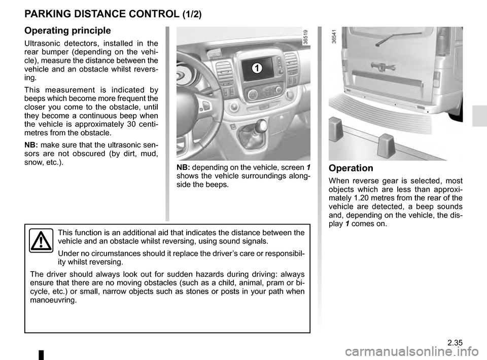 RENAULT TRAFIC 2016 X82 / 3.G Owners Manual, Page 159