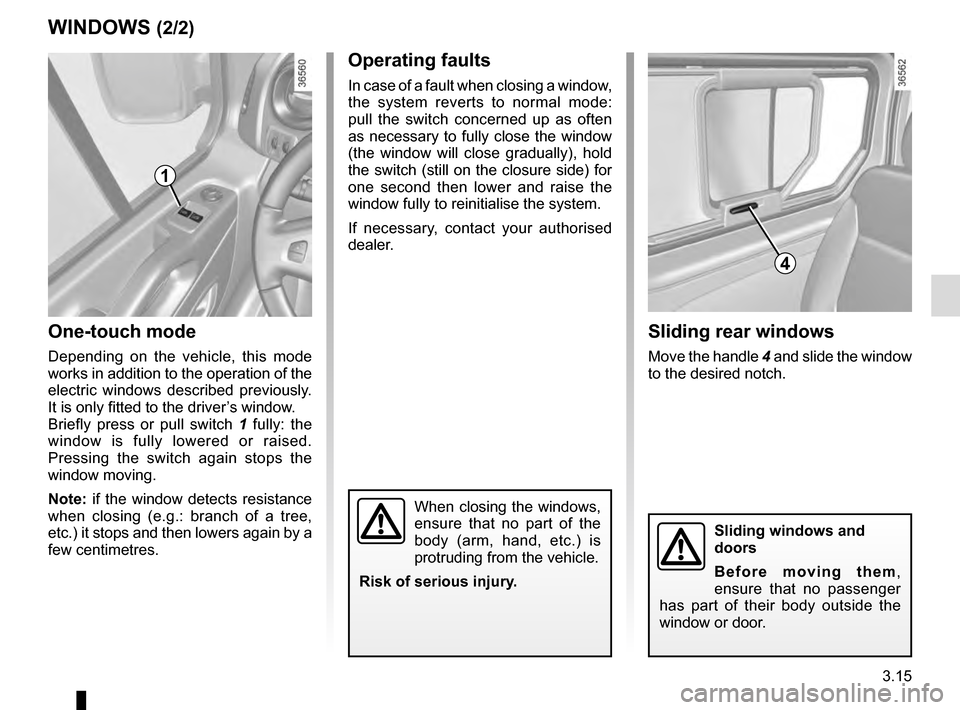 RENAULT TRAFIC 2016 X82 / 3.G Owners Manual, Page 177