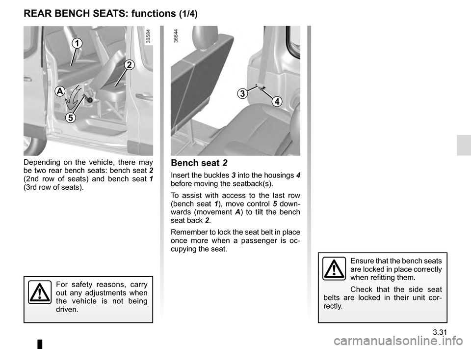 RENAULT TRAFIC 2016 X82 / 3.G Owners Manual, Page 193