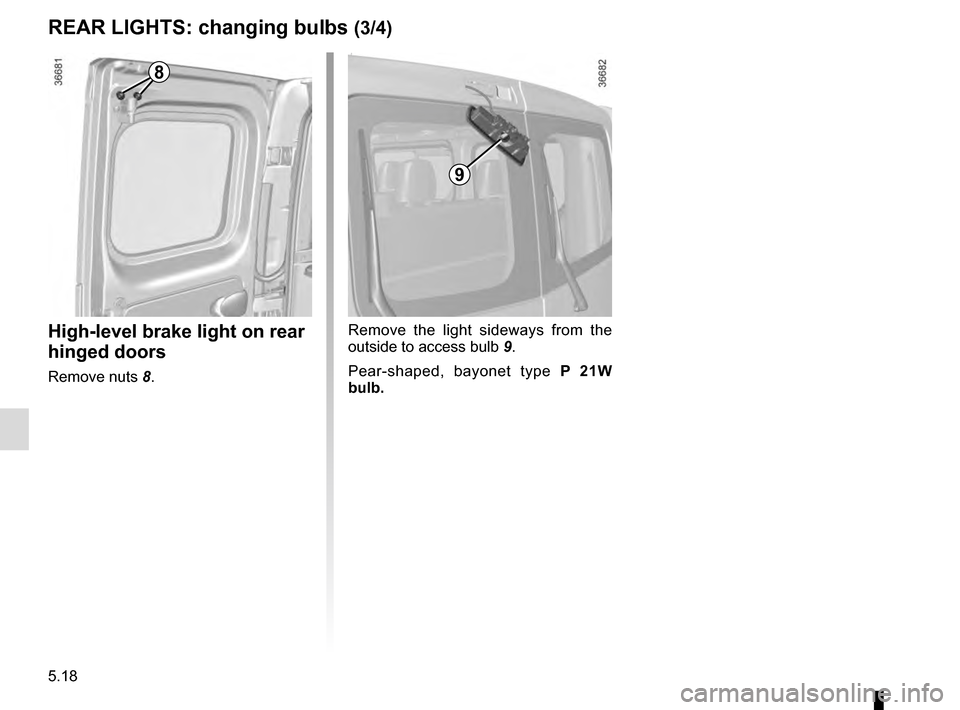 RENAULT TRAFIC 2016 X82 / 3.G Owners Manual, Page 238