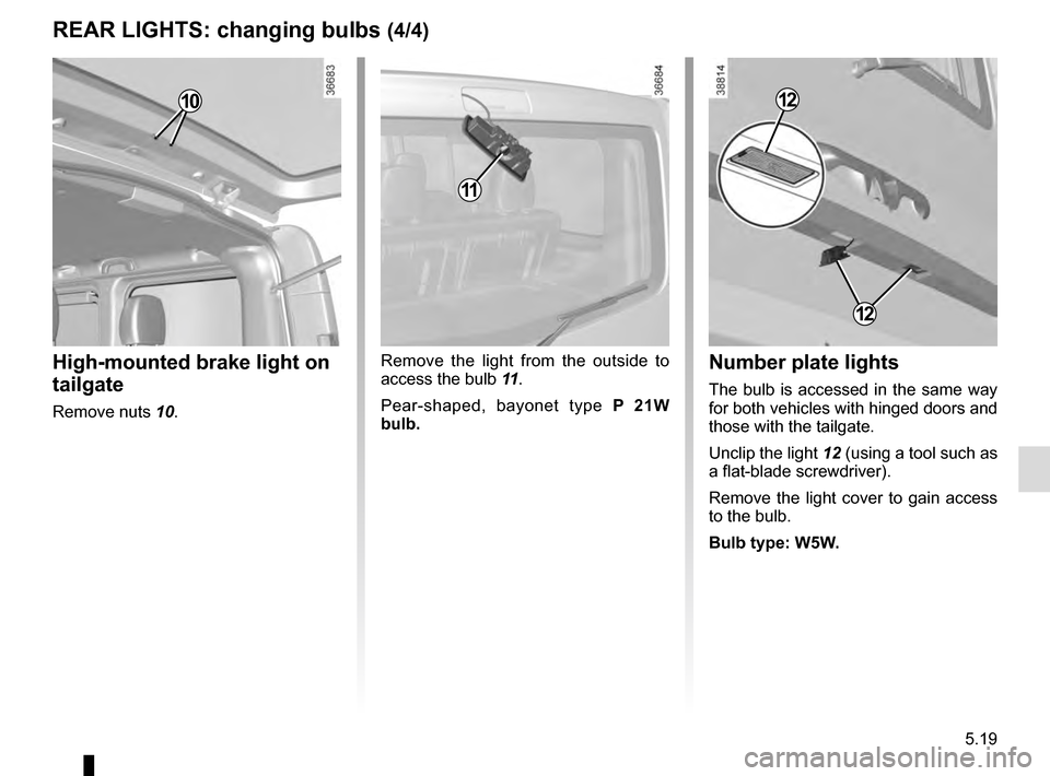 RENAULT TRAFIC 2016 X82 / 3.G Owners Manual, Page 239