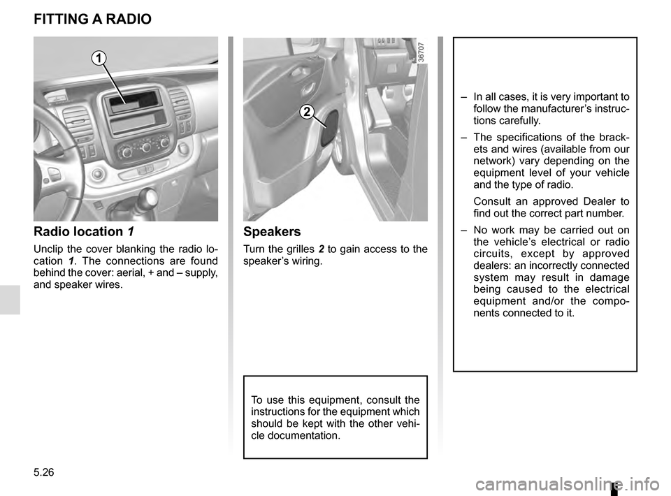 RENAULT TRAFIC 2016 X82 / 3.G Owners Manual, Page 246