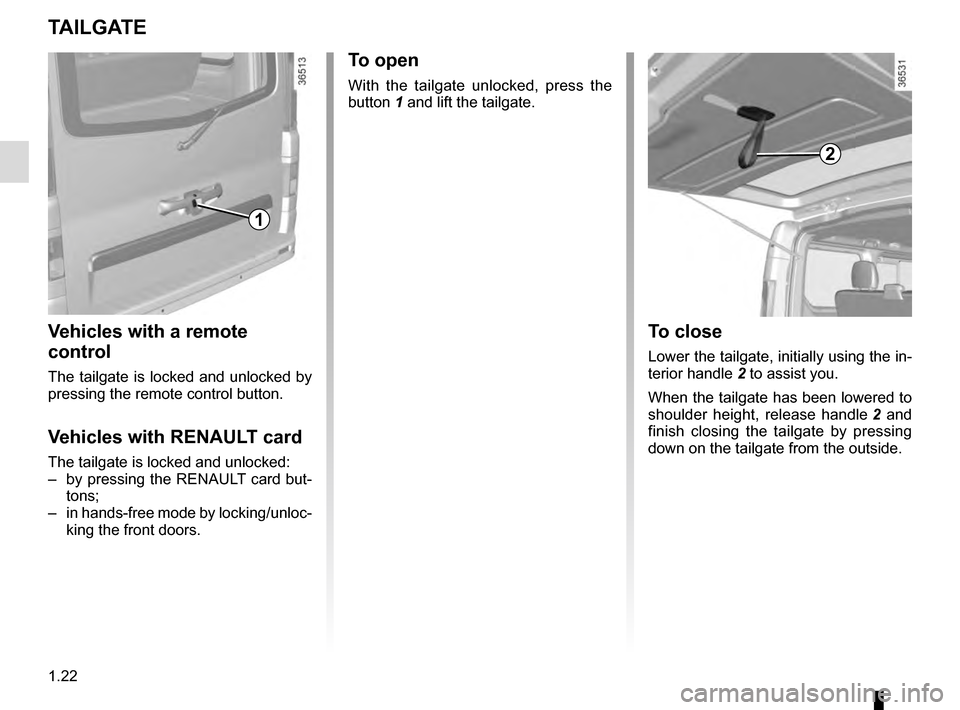 RENAULT TRAFIC 2016 X82 / 3.G Owners Manual, Page 28