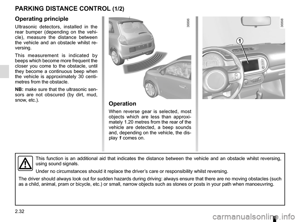 RENAULT TWINGO 2016 3.G Owners Manual, Page 106