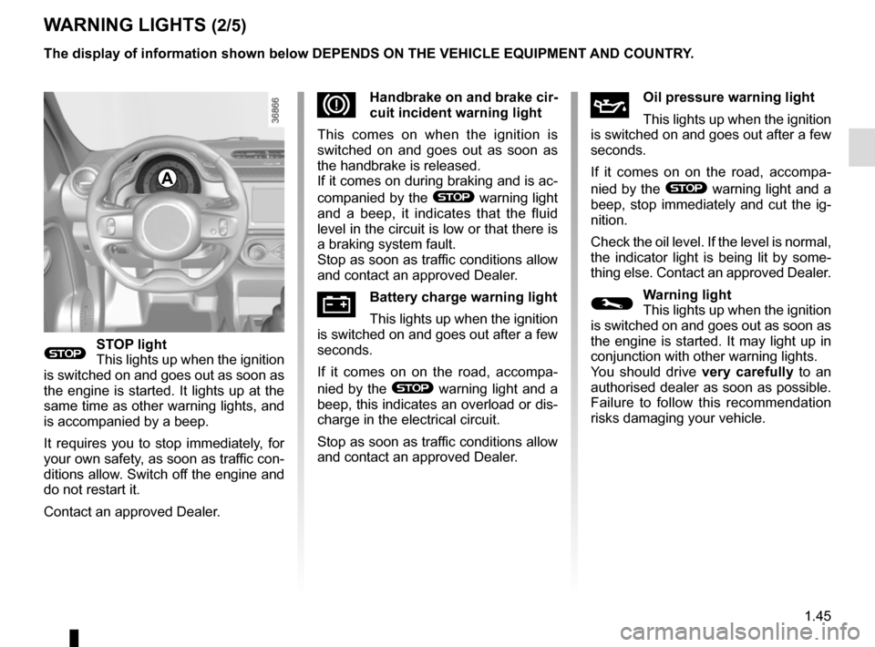 RENAULT TWINGO 2016 3.G Owners Manual, Page 51