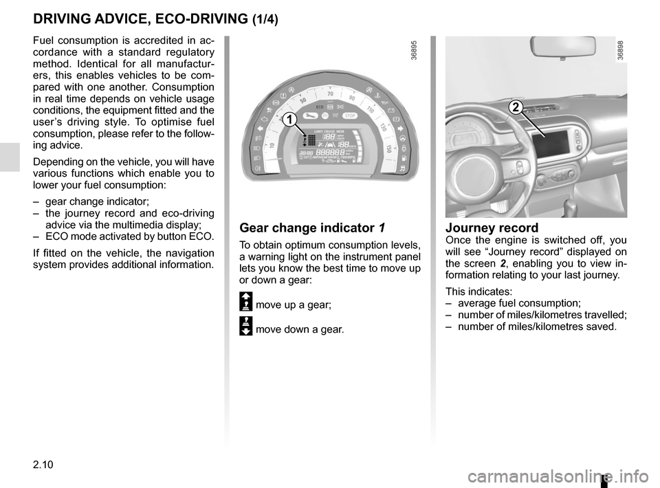 RENAULT TWINGO 2016 3.G Owners Manual, Page 84