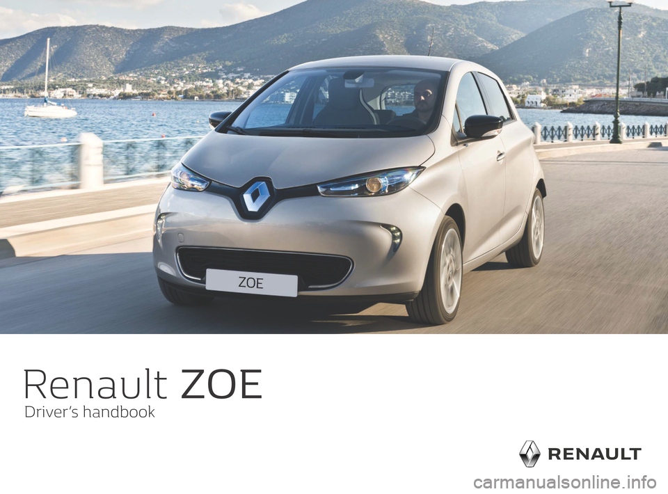 RENAULT ZOE 2016 1.G Owners Manual, Page 1